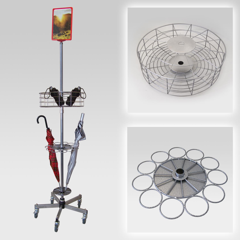 Regenschirmständer für 44 Schirme, Fuß standard