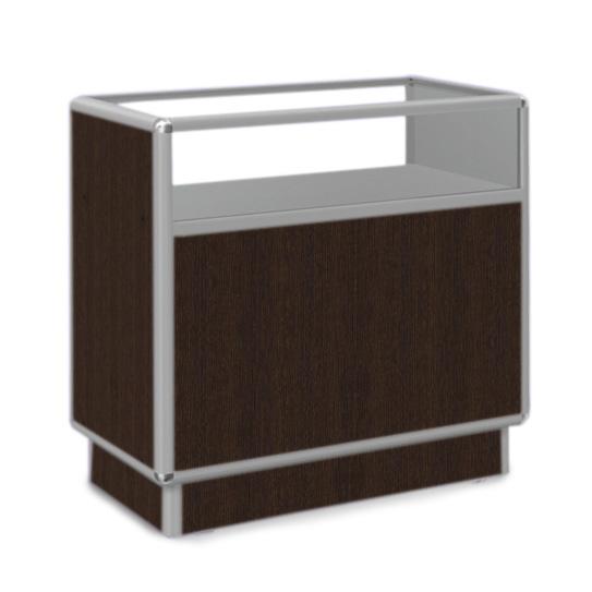 Ladentisch mit Vitrine 120x50x90cm Kiefer Dunkel