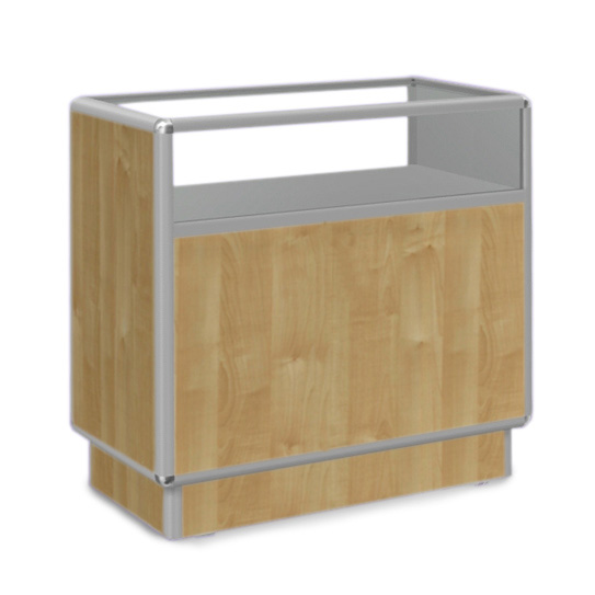 Ladentisch mit Vitrine 120x50x90cm Kiefer