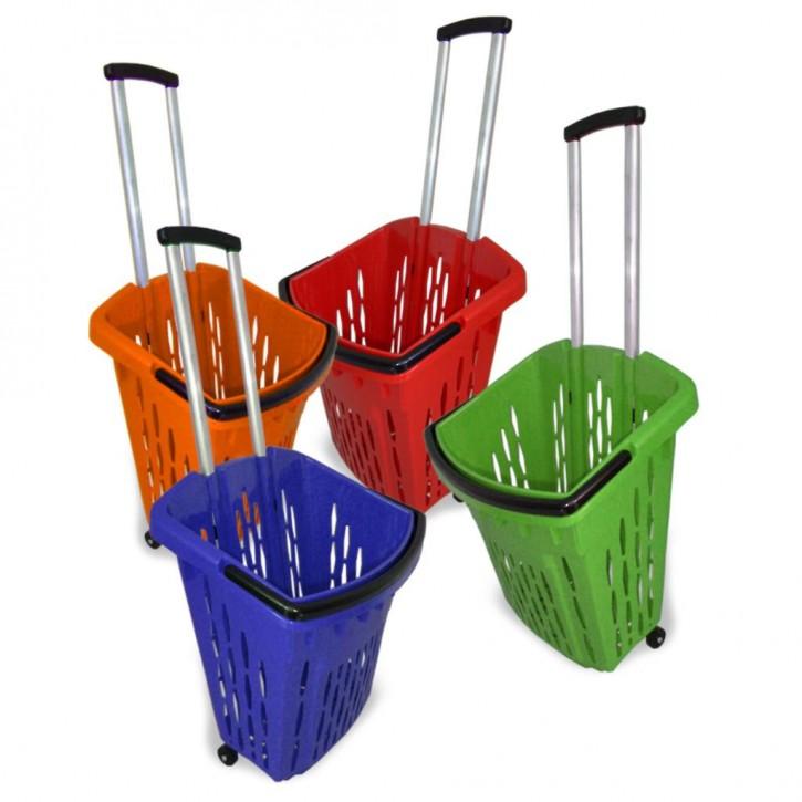 Einkaufstrolley Einkaufskorb mit Rollen 38L orange