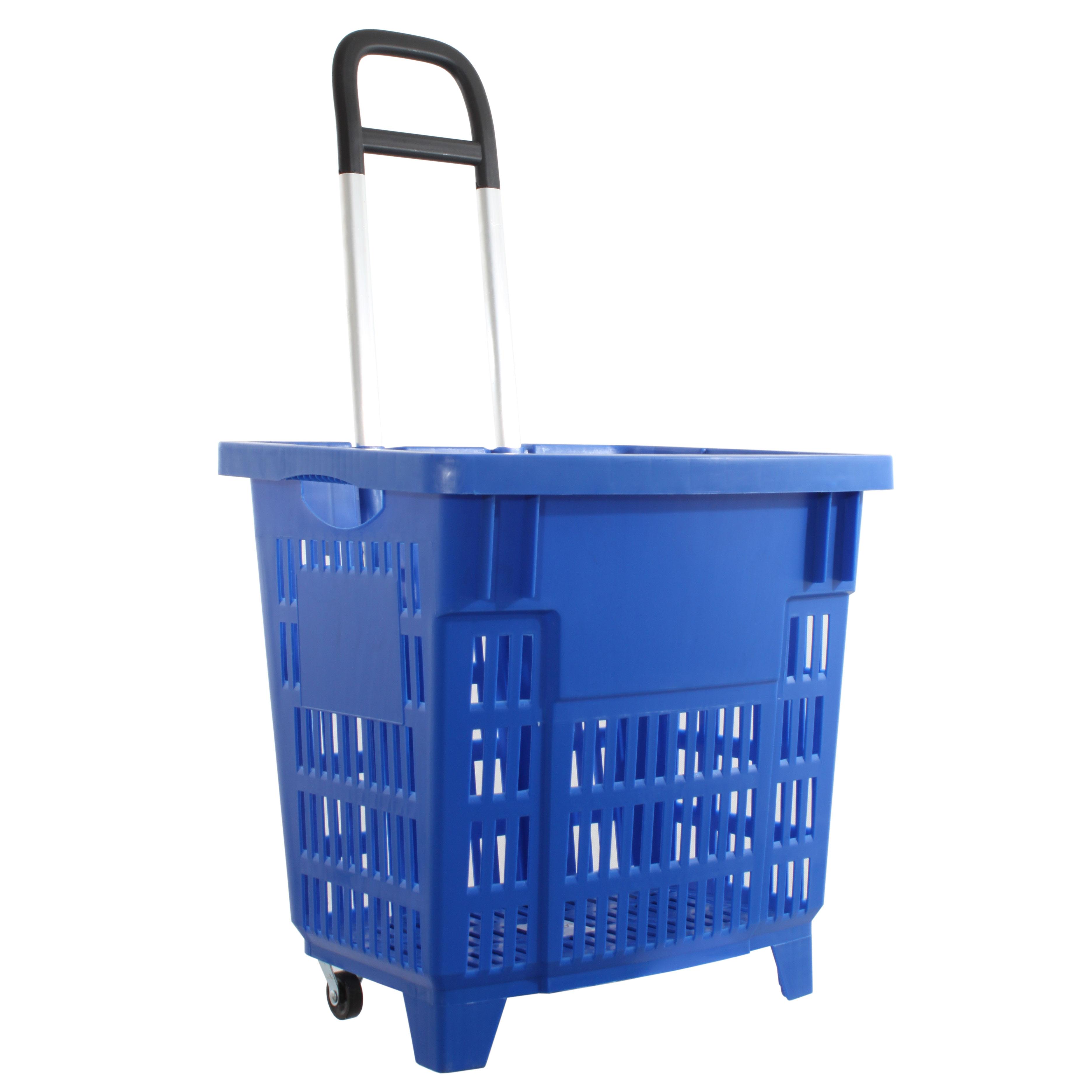 einkaufstrolley einkaufskorb m rollen 55l blau 200 003 55. Black Bedroom Furniture Sets. Home Design Ideas