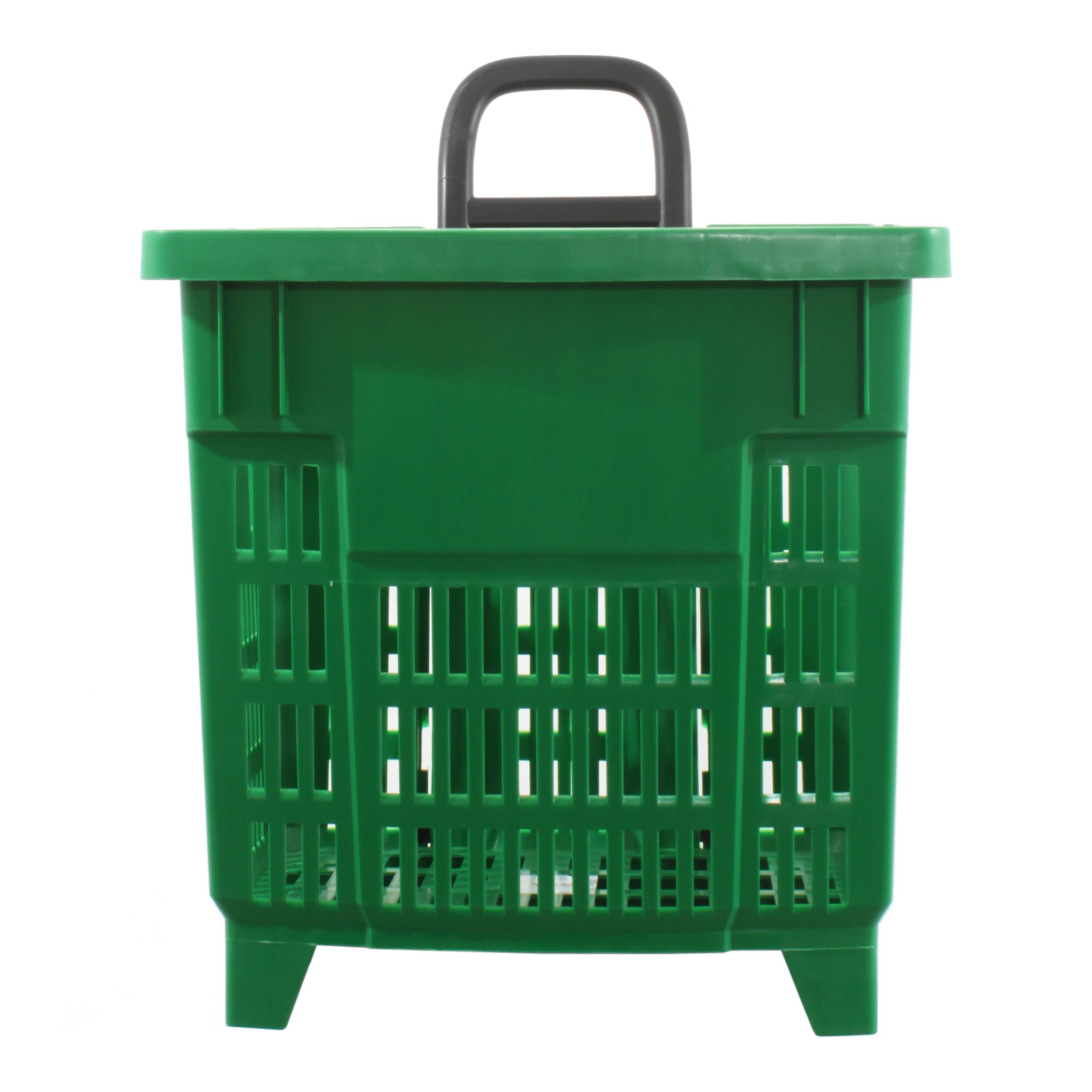 Einkaufstrolley Einkaufskorb m. Rollen 55L Grün-200 003-55 ...