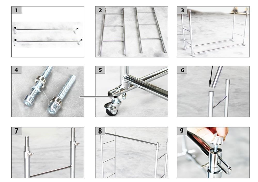 garderobenwagen mit 2 kleiderstangen 100 022. Black Bedroom Furniture Sets. Home Design Ideas