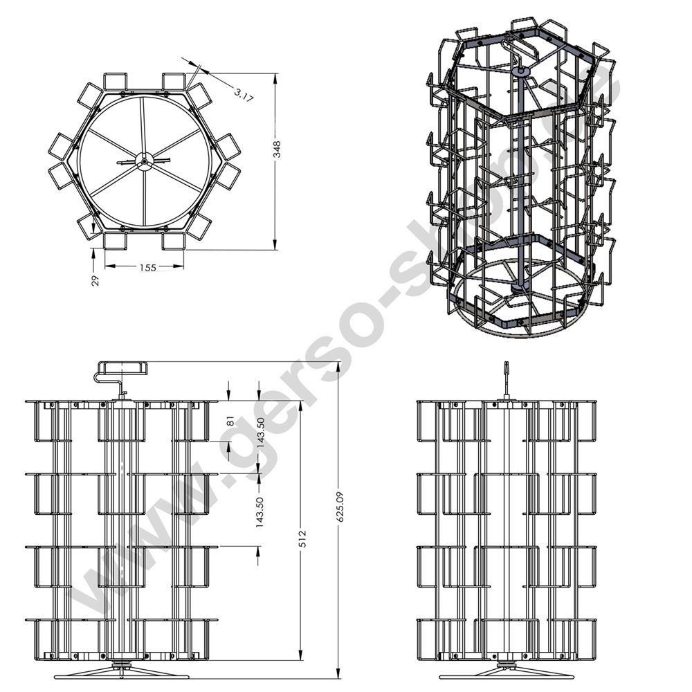 kartenst nder mit 24 f chern f r postkarte querformat 300 500 24pq. Black Bedroom Furniture Sets. Home Design Ideas