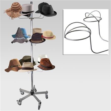 Hutständer mit 3 Hutetagen, Fuß standard
