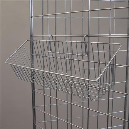 Gitterkorb 43 x 13 cm, zur Aufhängung an Gitterwänden
