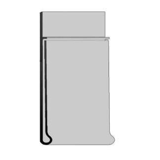 Schiene mit Klebeprofil;  H: 60 mm; L:1250 mm