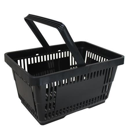Einkaufskorb mit 1 Bügel,21 Liter, schwarz