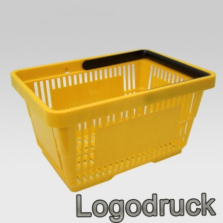 Einkaufskorb mit 1 Bügel, 21 Liter, gelb