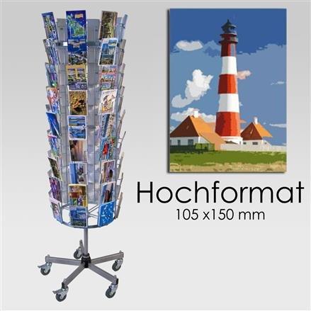 Postkartenständer mit 72 Fächern - Hochformat 72 | Hochformat 72