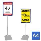 Plakatständer A4 blau Höhe flexibel 320-620mm