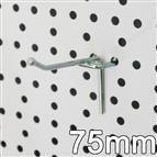 Einfachhaken für Lochblech, L= 75 mm