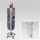 Kombi-Ständer mit 4 Leisten A4, Fuß verstärkt