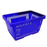 Einkaufskorb mit 1 Bügel,21 Liter, blau