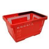 Einkaufskorb mit 1 Bügel, 21 Liter, rot