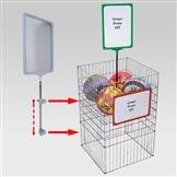 Plakathalter für Gitter 4-8 mm, inkl. Rohr 300 mm