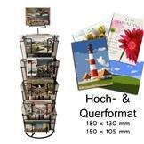 Kartenständer mit 18 Fächern 105x150 / 130x180 mm