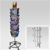 Kombi-Ständer mit 3 Leisten A4, Fuß verstärkt
