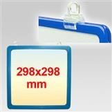 Plakatrahmen 298x298 mm blau. incl. 2 Aufhängeösen