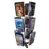 Thekenständer CD/DVD, mit 12 Fächer je 2 DVDs, CDs