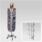 Kombi-Ständer mit 4 Leisten A4, Fuß standard