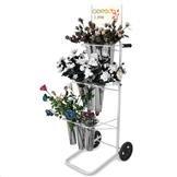 Blumenwagen Aktionswagen mit 9 Blumenvasen