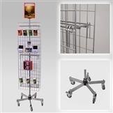 Gitterständer mit 2 Gittern, rollbar, Fuß standard