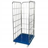 Rollbehälter mit 3 Seitengittern, Blau 1350mm Höhe