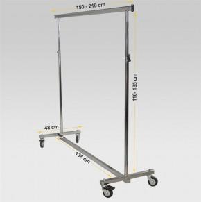 Reiserollständer, B = 150 cm, verchromt