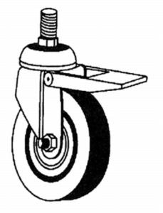 100 078-40, Lenkrolle 75mm, m. Feststeller
