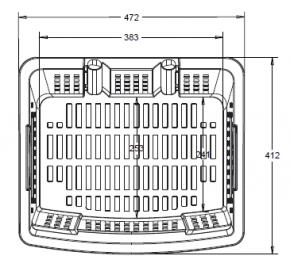 einkaufstrolley einkaufskorb m rollen 55l gelb 200 003 55. Black Bedroom Furniture Sets. Home Design Ideas