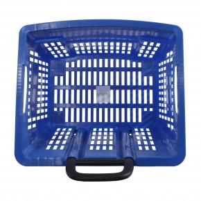 Einkaufstrolley Einkaufskorb m. Rollen 55L Blau