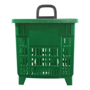 Einkaufstrolley Einkaufskorb m. Rollen 55L Grün