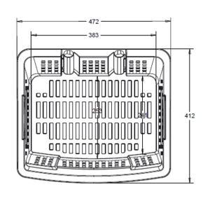 Einkaufstrolley Einkaufskorb mit Rollen ca.40L ROT