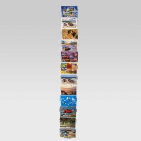 Postkartenleiste mit 12 Fächern QF 150 mm