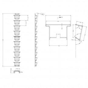 Postkartenleiste einfach: 130x130mm, 10 Fächer