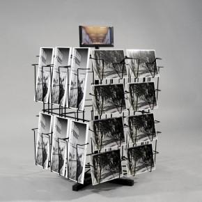 Thekenständer für Postkarten mit 28 Fächer