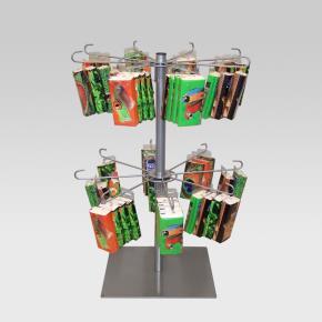 Tischständer mit 2 Kränzen je 8 Haken