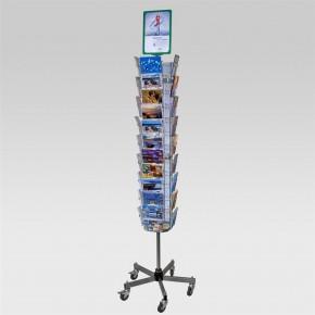 Postkartenständer mit 42 Fächern