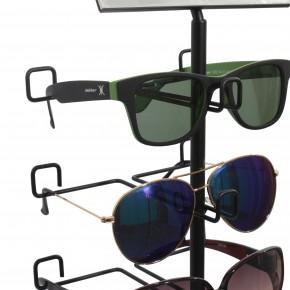 Brillenständer für 5 Brillen in schwarz