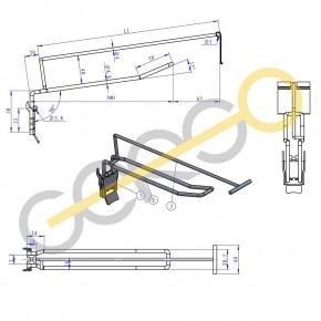 Doppelhaken mit Klappe und Etikettenträger, L= 300 - 300mm 4,8mm | 300mm 4,8mm