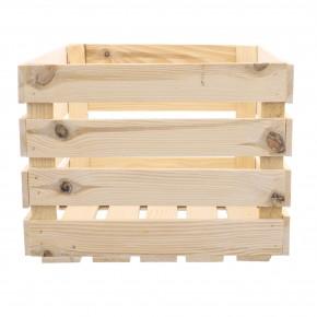 Deko Holzkiste natur 50x40x30cm Obstkiste Holzbox