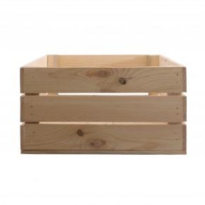 Deko Holzkiste natur 60x40x21cm Obstkiste Holzbox
