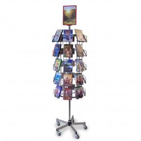 DVD/CD- Drehständer mit 40 Fächern, drehbar