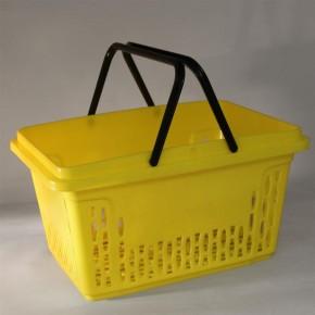 Einkaufskorb mit 2 Bügel, 40 Liter, gelb
