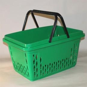 Einkaufskorb mit 2 Bügel, 40 Liter, grün