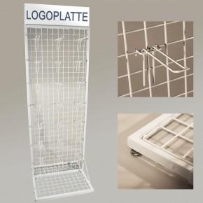 Verkaufsständer mit Gitterwand Weiß RAL9010