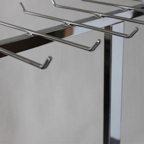 Design Gürtelständer verchromt mit 16 Haken