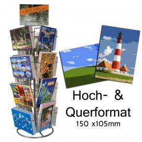 Thekenständer Kartenständer 16 Fächer 150x105 mm Quer und Hoch