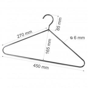 Kleiderbügel aus Stahl, Ø = 6 mm, verchromt